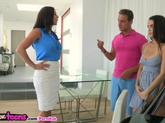 Moms Bang Teens - Milf tutors young couple