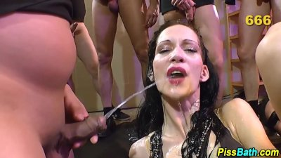 Piss soaked babe fucked