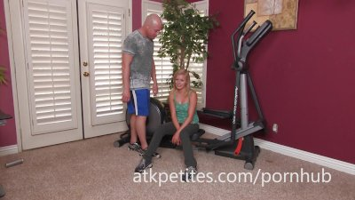 Petite Blonde Kyleigh Ann Gives a Nice Footjob