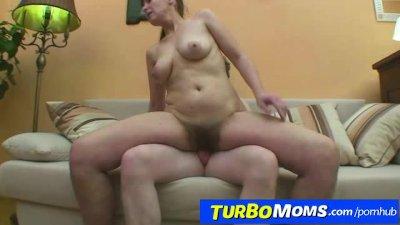 Very hairy czech housewife Karin fulfills boy dreams