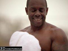 Preview 2 of Ebonyed Cheating Milf Brandi Love\u2019s First Big Ebony Cock