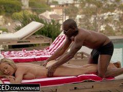 Preview 5 of Ebonyed Cheating Milf Brandi Love\u2019s First Big Ebony Cock