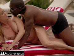 Preview 6 of Ebonyed Cheating Milf Brandi Love\u2019s First Big Ebony Cock