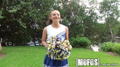 Mofos - Sexy cheerleader sucks big cock