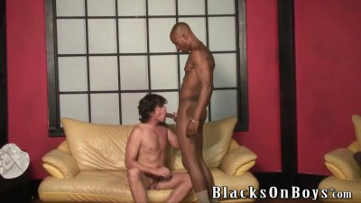 White dude gets fucked by a black guy bareback style