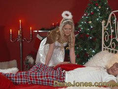 DaneJones Hot Xmas angel brings special present