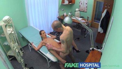 FakeHospital Hot nurse seduce and fucks her old college professor