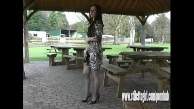 Sexy stiletto girl Jenna walks
