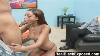 RealBlackExposed - Black Babe Swallows a Long Rod
