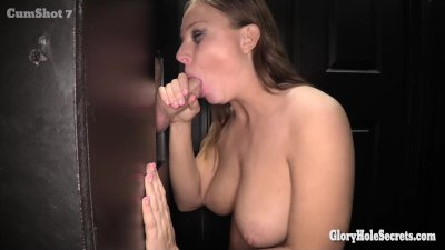 Glory hole Secrets Tif Banister sucking off strangers cocks