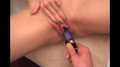 Hot chick sucking her boyfriend in the dark and gets jizzload