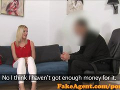 FakeAgent Horny financial assistant sucks and fucks in casting