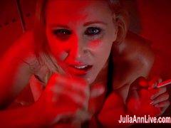Sexy Milf Julia Ann Sucks Dick While Smoking Cigarettes