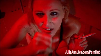 Sexy Milf Julia Ann Sucks Dick While Smoking Cigarettes!