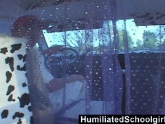 HumiliatedSchoolgirls   Teens Picked Up From School and Banged