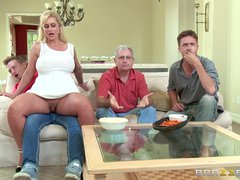Preview 2 of Stepmom Takes Some Young Cock  - Brazzers