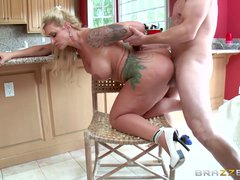 Preview 6 of Stepmom Takes Some Young Cock  - Brazzers