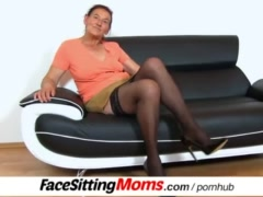 : Submissive male during facesitting with stockings czech gilf Linda