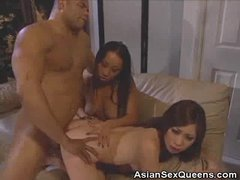 Lucky Gent Fucks And Cums On Two Asian Babes