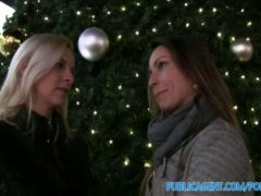 Preview 3 of Publicagent Two Sisters Fuck Two Big Cocks For Xmas