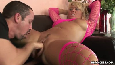 Fishnets wearing sloozy gets to be doggy style fucked