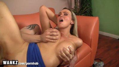 WANKZ - MILF Boss Gets her Big Tits Covered In Hot Jizz!