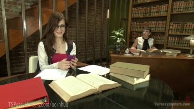 MILF Librarian Punishes TS Delinquent