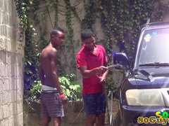 African amateur cocksucking outdoors
