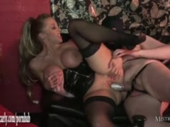 Horny Mistress foursome fuck and pumping big cocks for tight creampie pussy
