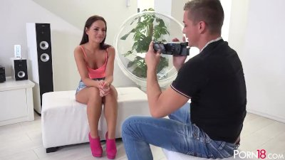 Kari K does her best to impress the i...