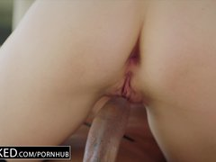 Preview 8 of Ebonyed Hot Wife Cuckolds Hubby With Young Ebony Neighbor