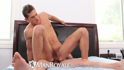 ManRoyale - Luke Milan rides bf Colby Chambers MASSIVE cock