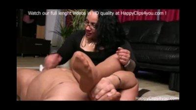 Foot smelling handjob by Gina