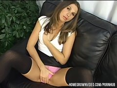 Veronica takes a very big cock in her tight little butthole