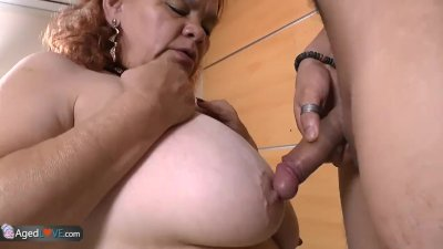 AgedLove BBW Latina Granny fucks with young boy