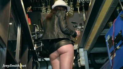 Jeny Smith naked barmaid on duty