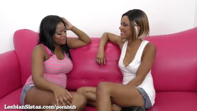 Sexy Black Girls Scissor Their