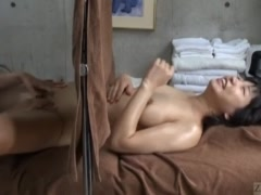 Subtitled CFNF ENF Japanese lesbian massage clinic oral sex