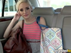 Preview 1 of Strandedteens - Naomi Woods - Teen Spinner's Phone Sex Gets Crazy