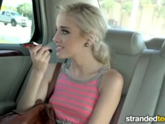 Preview 5 of Strandedteens - Naomi Woods - Teen Spinner's Phone Sex Gets Crazy