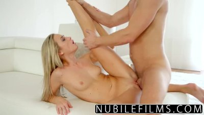 NubileFilms - Bald tight pussy gets pounded by hard cock