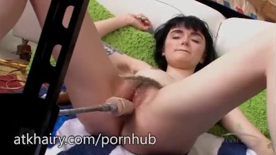 Matilda Bow enjoys her sex-machine so much
