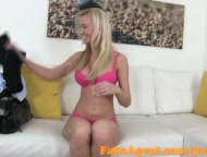 FakeAgent Stunning blonde loves taking cock in casting interview