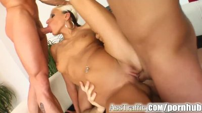 Ass Traffic Timi's getting three dicks in her asshole
