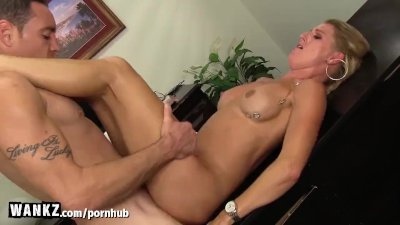 WANKZ - Hot MILF Cums and Squirts In Her Office!