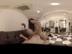 VR Blowjob in 360  Special Hairdresser