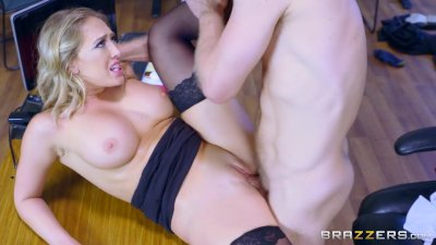 Kagney Linn Karter takes big dick at work - Brazzers