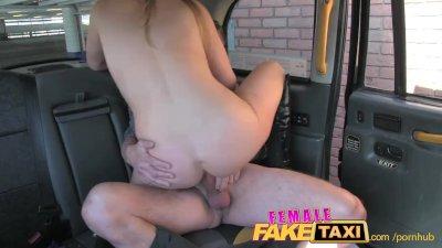 FemaleFakeTaxi Cocky fella shown who's the boss