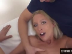 Preview 8 of Blonde Wife Uma Thompson's Cuckold Fantasies