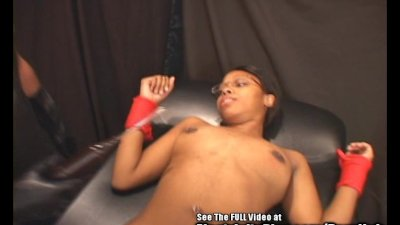 Hottie Black Chick Electrified BDSM Fuck